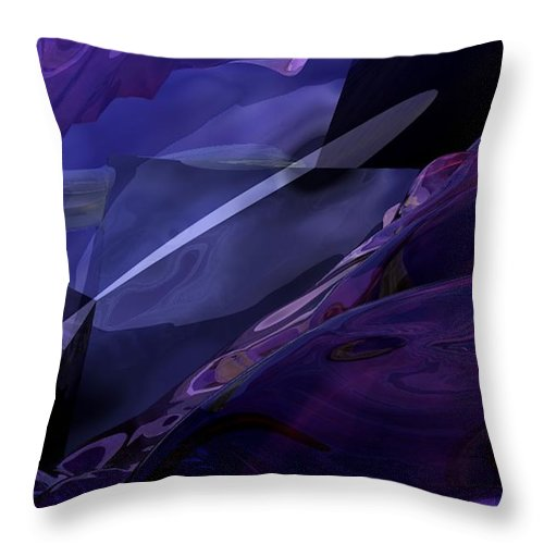 Abstract Throw Pillow featuring the digital art Abstractbr6-1 by David Lane