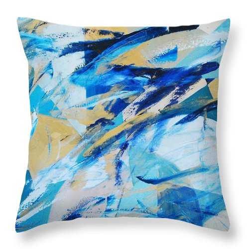 Geometry Throw Pillow featuring the painting Abstracted Geometry by Lauren Luna