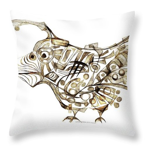 Abstraction Throw Pillow featuring the digital art Abstraction 2247 by Marek Lutek
