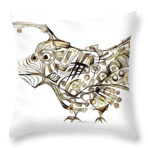 Abstraction Throw Pillow featuring the digital art Abstraction 2248 by Marek Lutek