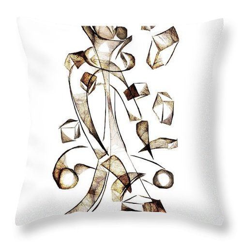 Abstraction Throw Pillow featuring the digital art Abstraction 2256 by Marek Lutek