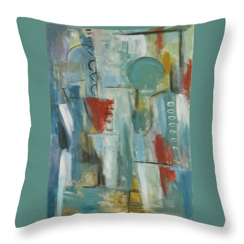 Abstract Throw Pillow featuring the painting Abstraction I by Trish Toro