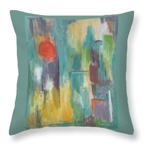 Abstract Throw Pillow featuring the painting Abstraction II by Trish Toro