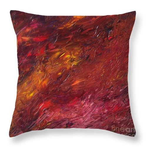 Abstract Throw Pillow featuring the painting Abstraction Of A Dream by Emily Young