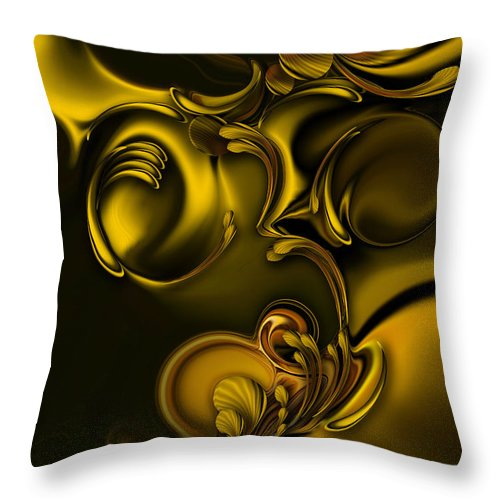 Abstraction Throw Pillow featuring the digital art Abstraction with Meditation by Carmen Fine Art