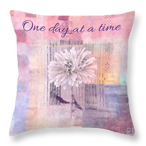 Pink Throw Pillow featuring the digital art Abstractionnel - 333ab2ab by Variance Collections