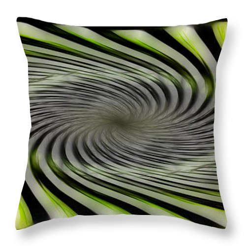 Abstract Throw Pillow featuring the digital art Abstrat by Galeria Trompiz