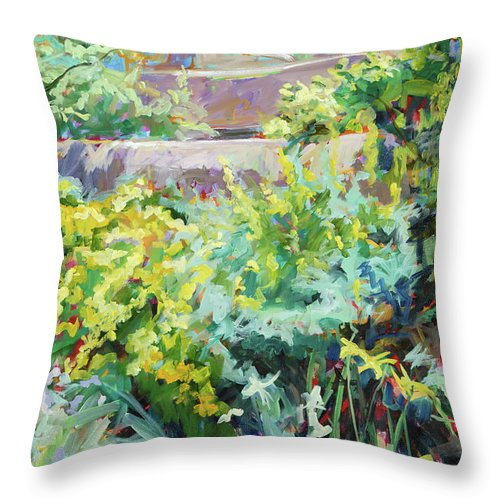 Adobe Throw Pillow featuring the painting Abundance by Marie Massey