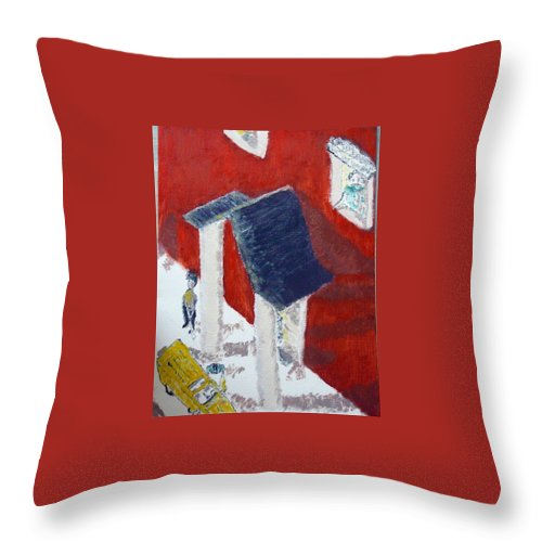 Social Realiism Throw Pillow featuring the painting Accessories by R B