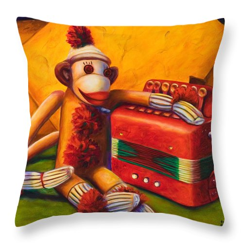 Children Throw Pillow featuring the painting Accordion by Shannon Grissom