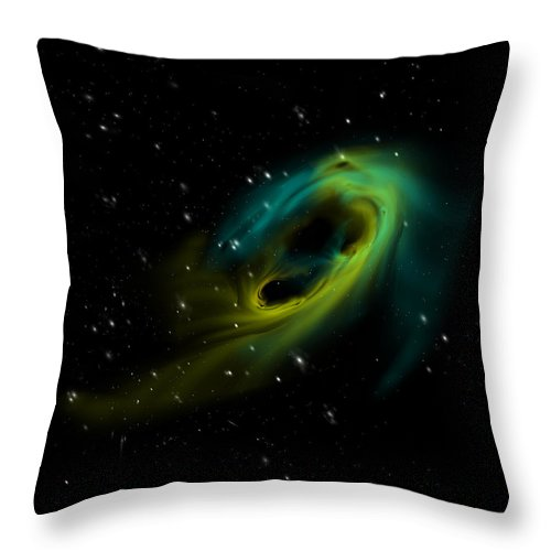 Space Throw Pillow featuring the digital art Accretion Disk 2 by Julie Rodriguez Jones