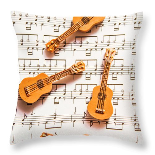 Music Throw Pillow featuring the photograph Acoustic Quartet by Jorgo Photography - Wall Art Gallery