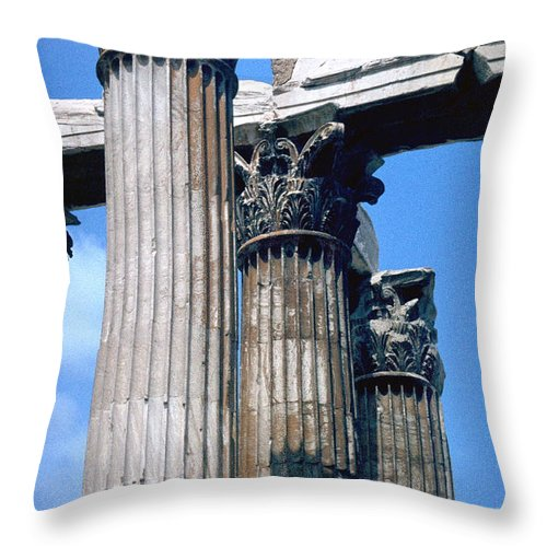 Acropolis Throw Pillow featuring the photograph Acropolis by Flavia Westerwelle