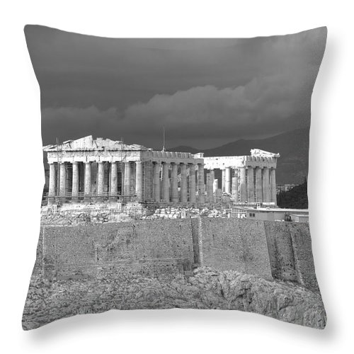 Acropolis Throw Pillow featuring the photograph Acropolis by Gabriela Insuratelu