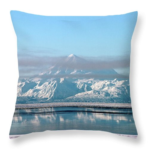 Mountain Throw Pillow featuring the photograph Across The Bay by Rick Monyahan