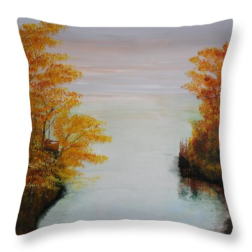 Originals Throw Pillow featuring the painting Acrylic Msc 064 by Mario Sergio Calzi
