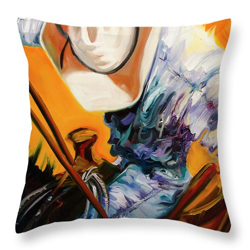 Rodeo Throw Pillow featuring the painting Action Jackson by Diane Whitehead