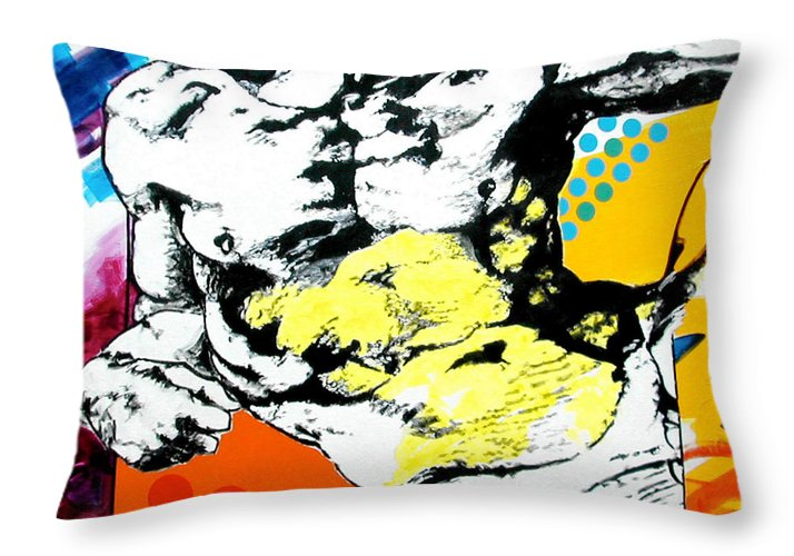 Pop Throw Pillow featuring the painting Adam by Jean Pierre Rousselet