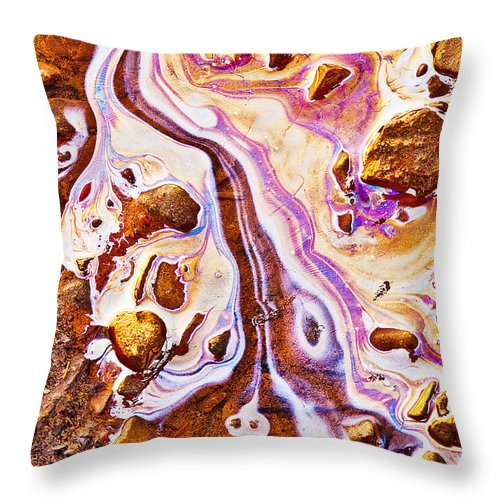 Oil Slick Throw Pillow featuring the photograph Adam by Linda McRae