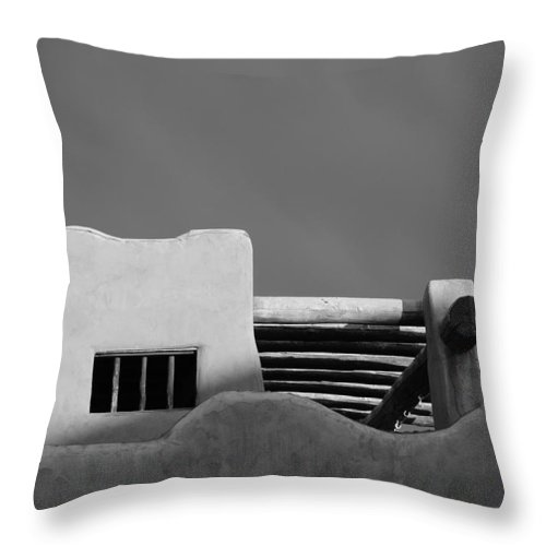 Architecture Throw Pillow featuring the photograph Adobe Turrett by Rob Hans
