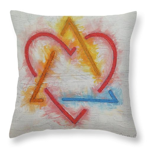 Adoption Symbol Throw Pillow featuring the painting Adoption Symbol by Michael Creese