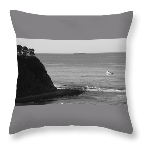 Ocean Throw Pillow featuring the photograph Adrift by Shari Chavira