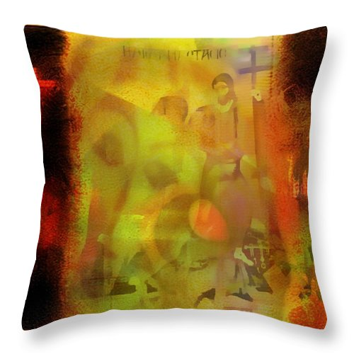 Crosses Throw Pillow featuring the painting Advent To Grace Intersecting Ministry by Marshall Thomas