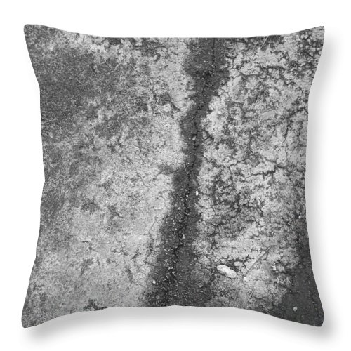 Abstract Obscure White Gray Black Modern Throw Pillow featuring the photograph Aerial Asphalt 2 by Anna Villarreal Garbis