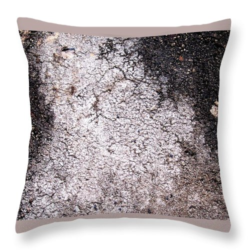 Abstract Obscure White Gray Black Modern Throw Pillow featuring the photograph Aerial Asphalt 4 by Anna Villarreal Garbis
