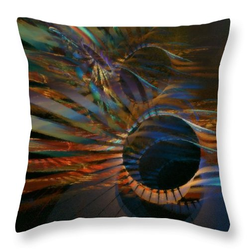 Abstract Throw Pillow featuring the digital art After Hours by NirvanaBlues