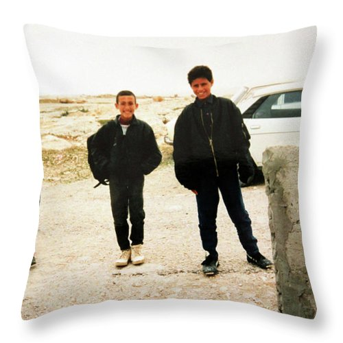 Kids Throw Pillow featuring the photograph After School by Munir Alawi