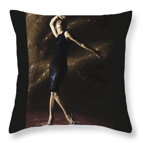 Dance Throw Pillow featuring the painting After the Dance by Richard Young
