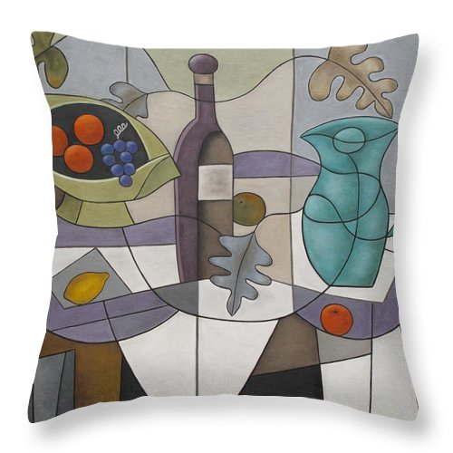 Abstract Throw Pillow featuring the painting After The Dream by Trish Toro