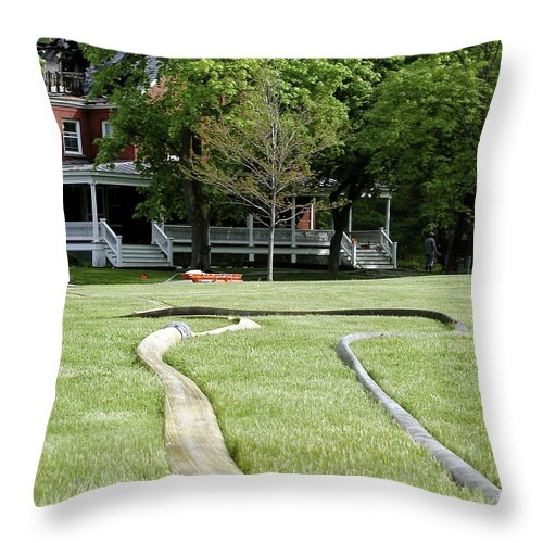 Fire Throw Pillow featuring the photograph After The Fire by Faith Harron Boudreau