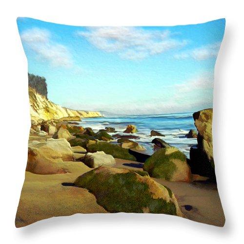 Ocean Throw Pillow featuring the photograph After The Fog Gaviota by Kurt Van Wagner