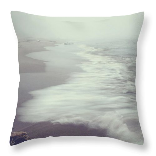 Calm Throw Pillow featuring the photograph After The Storm by Angela King-Jones