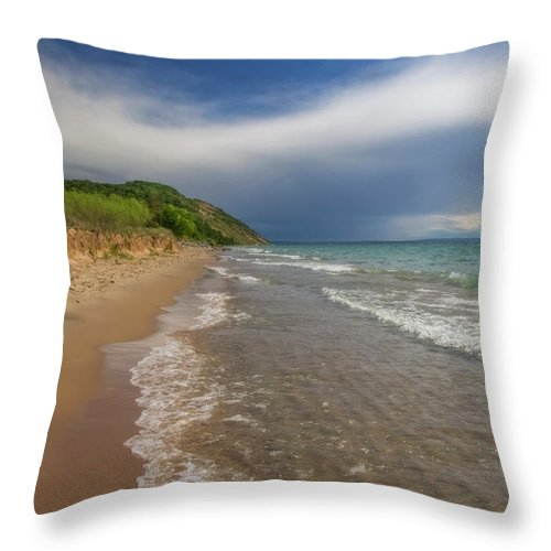Storm Throw Pillow featuring the photograph After The Storm by Heather Kenward