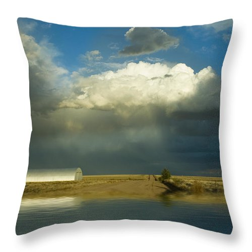 Storm Throw Pillow featuring the photograph After The Storm by Jerry McElroy