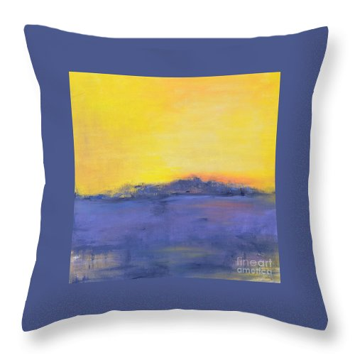 Storm Throw Pillow featuring the painting After The Storm by Patricia Caldwell