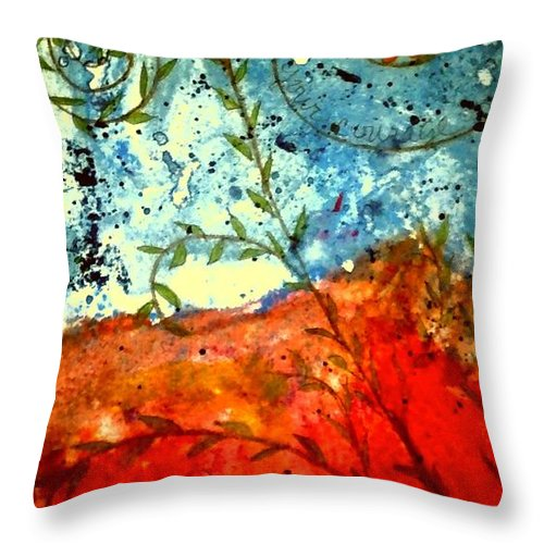 Greeting Cards Throw Pillow featuring the photograph After The Storm The Dust Settles by Angela L Walker