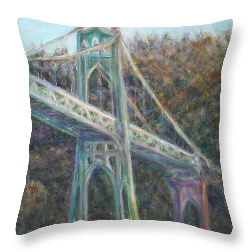 Quin Sweetman Throw Pillow featuring the painting Afternoon Glow On The St Johns by Quin Sweetman