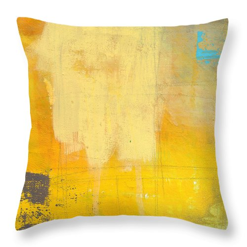 Abstract Throw Pillow featuring the painting Afternoon Sun -large by Linda Woods