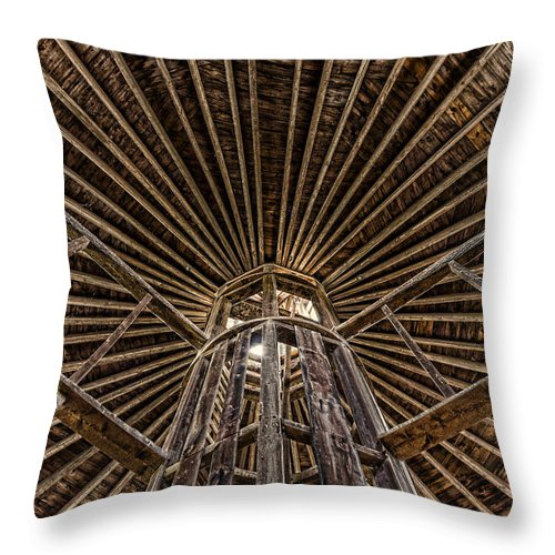 Shaker Throw Pillow featuring the photograph Ag Support by Stephen Stookey