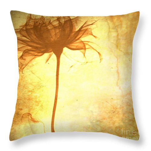 Flower Throw Pillow featuring the painting Against All Odds by Jacky Gerritsen