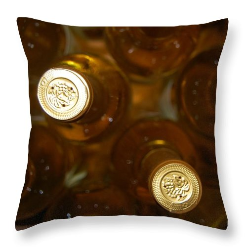 Wine Throw Pillow featuring the photograph Aged Well by Debbi Granruth