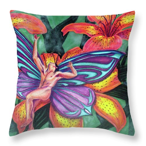 Agony Throw Pillow featuring the painting Agony by Bobby Jones