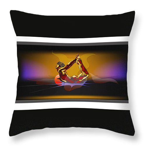 New Art Throw Pillow featuring the digital art AHH by Anthony Crudup