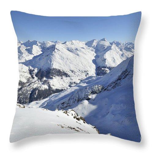 Aiguilles Throw Pillow featuring the photograph Aiguilles De La Grande Sassiere by Andy Smy