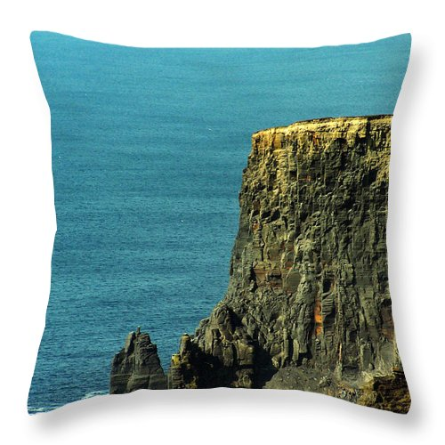 Irish Throw Pillow featuring the photograph Aill Na Searrach Cliffs Of Moher Ireland by Teresa Mucha