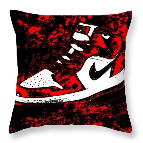 premium selection afc04 7e41e Michael Jordan Throw Pillow featuring the mixed media Air Jordan I Notorious  by Brian Reaves